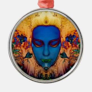 Poseidon's maiden.jpg metal ornament