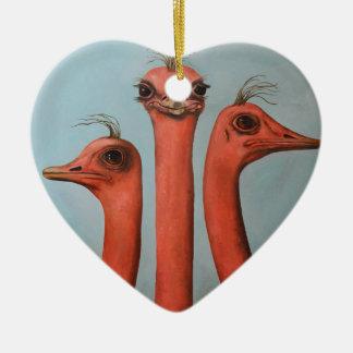 Posers 2 ceramic ornament