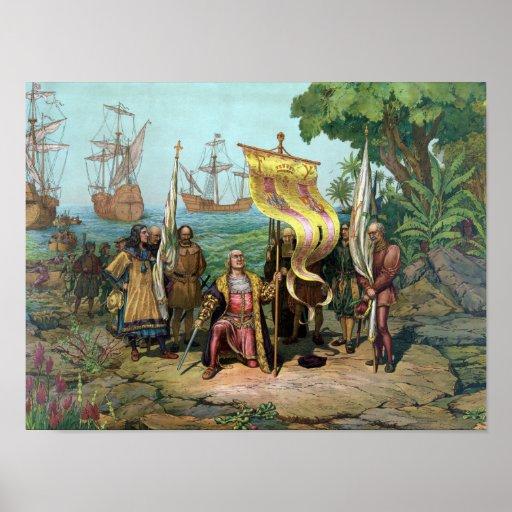 Posesión que toma de Columbus del nuevo país Impresiones
