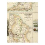 Posesiones británicas en la costa este del norte postal