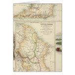 Posesiones británicas en la costa este del norte tarjeta de felicitación