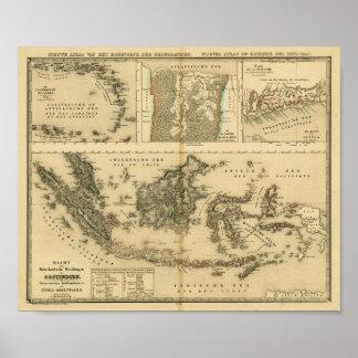 Posesiones coloniales holandesas hacia 1840 poster