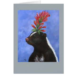 Posey the skunk card