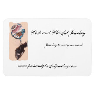 Posh and Playful Jewelry refrigerator magnet