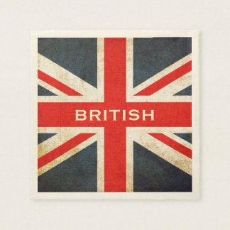 Posh British Union Jack Paper Party Napkins