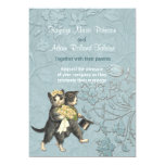 Posh Cats Aqua Blue Wedding Invitation (Visit shop to see more paperie & gifts in this theme. type