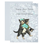 Posh Cats Aqua -Silver Sparkle Wedding Invitation (Visit shop to see more paperie & gifts in this theme. type