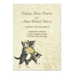 😻 Posh Cats Ivory Wedding Invitation (Visit shop to see more paperie & gifts in this theme. type