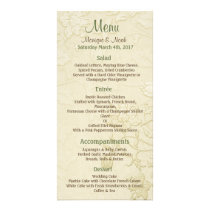 Posh Cats Ivory Wedding Menu Card