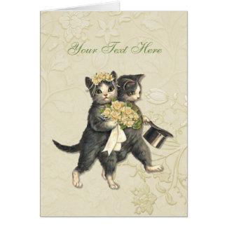 Posh Cats Wedding Card