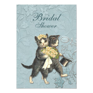 Posh Cats Wedding Personalized Announcements