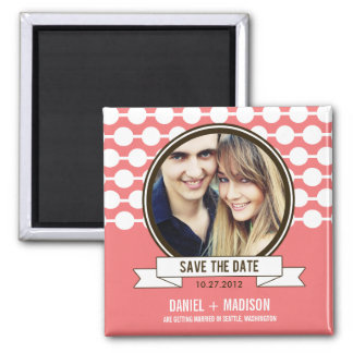 Posh Couple Save The Date Magnet - Pink