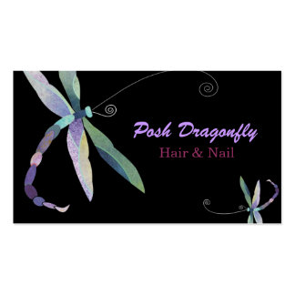 Posh Dragonfly Hair Salon Appointment Cards Double-Sided Standard Business Cards (Pack Of 100)