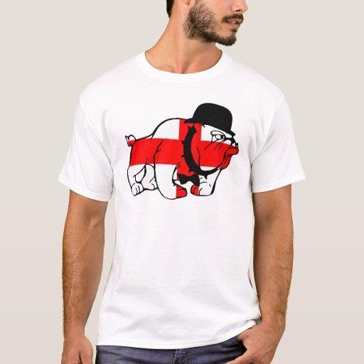 Posh English Bull dog English flag T-Shirt
