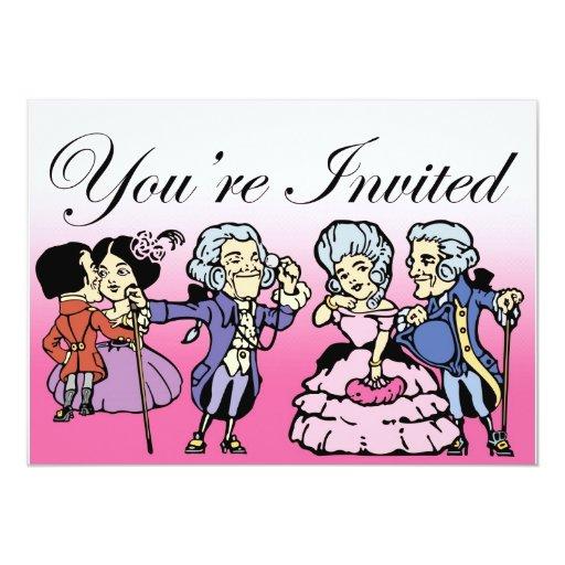 Posh Frocks Dance Invitation