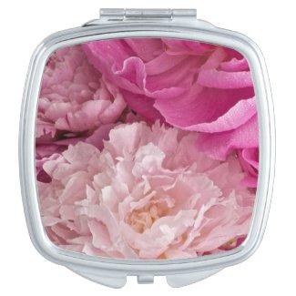 Posh Girly Pink Peonies Vanity Mirror