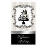 Posh Lace Wedding Cake  Bakery Business Cards