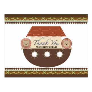 Posh Noah's Ark Flat Thank You Card