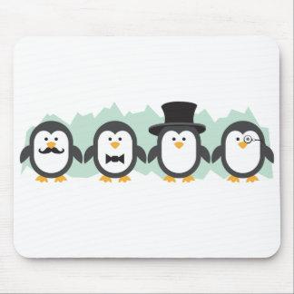Posh Penguins Mouse Pad