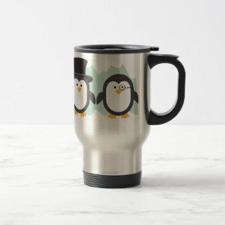 Posh Penguins Travel Mug
