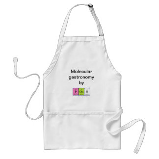 Posh periodic table name apron