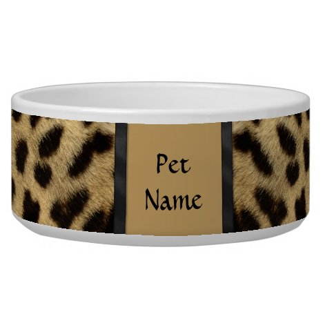 Posh Pet  Cheetah Pattern - Customize Bowl