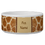Posh Pet  Giraffe Pattern - Customize Dog Bowls