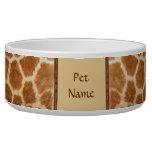 Posh Pet  Giraffe Pattern - Customize Pet Water Bowl