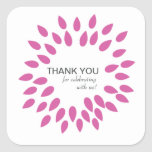 Posh Petals   Berry   Customizable Sticker