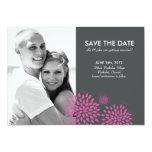 "Posh Petals   Berry   Save the Date 5"" X 7"" Invitation Card"
