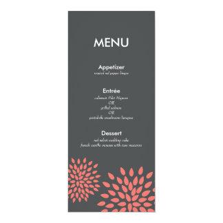 Posh Petals | Coral | Reception Menu Card