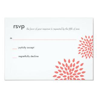 Posh Petals | Coral | RSVP Card