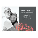 Posh Petals | Coral | Save the Date Card