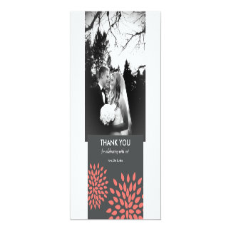 Posh Petals | Coral | Thank You Card