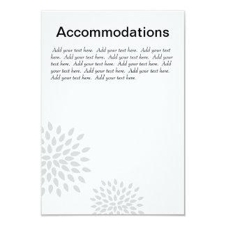 Posh Petals | Silver | Accommodations Insert 3.5x5 Paper Invitation Card