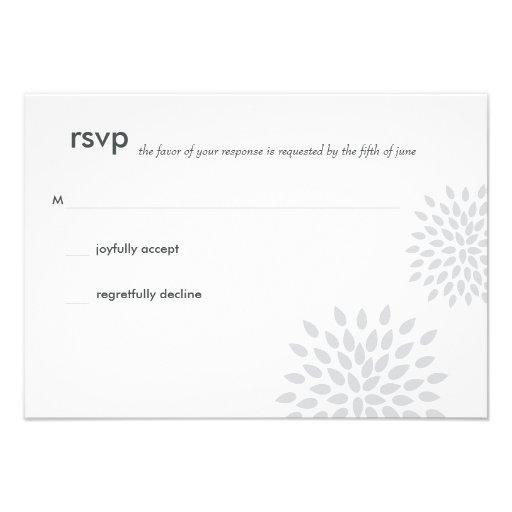 Posh Petals   Silver   RSVP Personalized Invitation