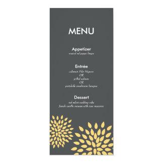 Posh Petals | Sunshine | Reception Menu Card