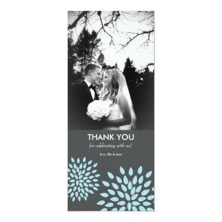 "Posh Petals | Twilight | Photo Thank You Card 4"" X 9.25"" Invitation Card"