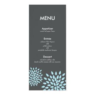 "Posh Petals | Twilight | Reception Menu Card 4"" X 9.25"" Invitation Card"