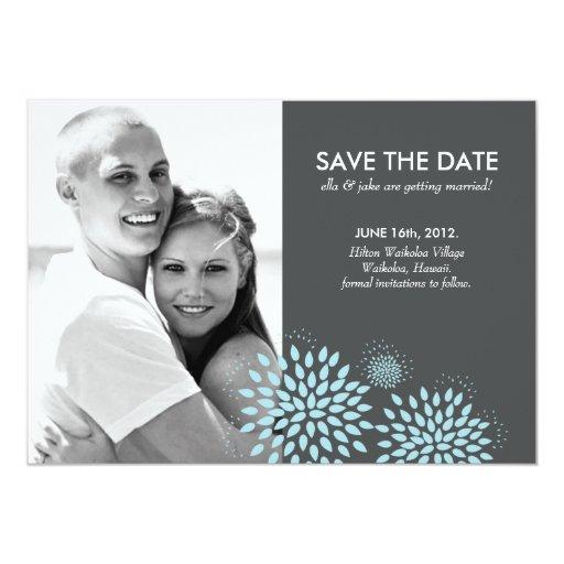 Posh Petals   Twilight   Save the Date 5x7 Paper Invitation Card