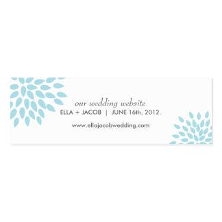 Posh Petals   Twilight   Wedding Website Cards