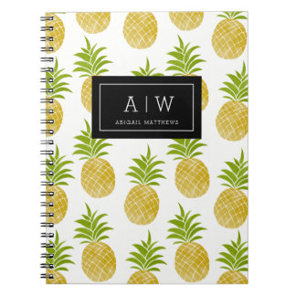 Posh Pineapple Monogrammed Notebook