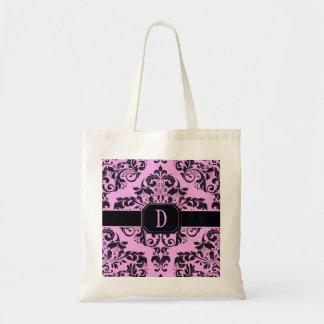 Posh Pink Damask Tote Bag