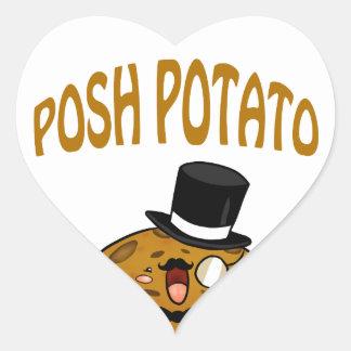 Posh Potato Heart Sticker