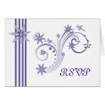 Posh Purple RSVP Cards