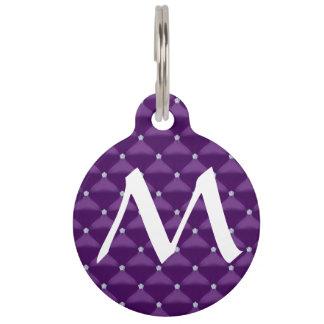 Posh Purple & Silver Bling Pet Name Tag
