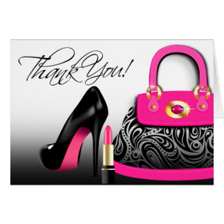 Posh Purse Thank You Note Card