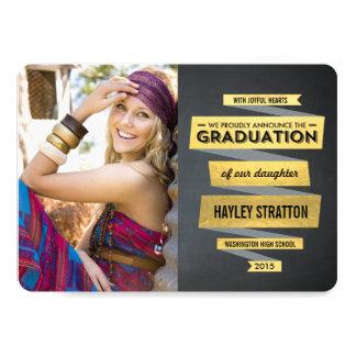 "Posh Ribbon Graduation Invitation 5"" X 7"" Invitation Card"