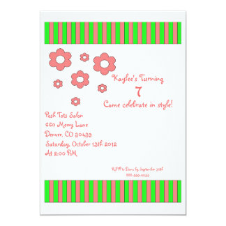Posh tot birthday invitation