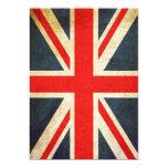 Posh Union Jack Custom Invitation (Vertical)